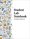 Student Lab Notebook (100 duplicate page sets): grid-based carbonless sheets with smooth coil spiral binding
