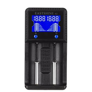Universal Battery Charger, EASTSHINE S2 LCD Display Speedy Smart Charger for Rechargeable Batteries Ni-MH Ni-Cd AA AAA Li-ion LiFePO4 IMR 10440 14500 16340 18650 RCR123 26650