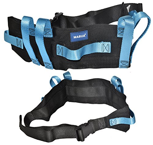 Transfer Gait Belt with 7 Loop Hand Grips & Easy Release 60 inches Plastic Buckle. Also Available in Metal Buckle.