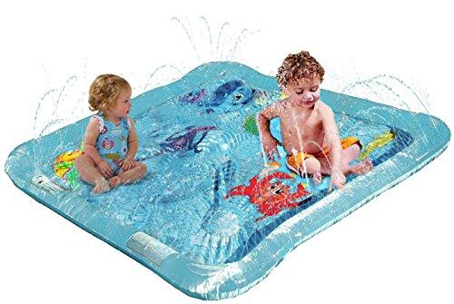 51Tfx56eyoL Kleeger Baby Wading Kiddie Pool: Outdoor Squirt & Splash Water Fun For Toddlers, Simple Instant Set Up