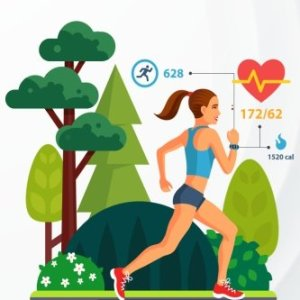 Running Log: Daily Running Journal 53 Week Record Notebook Personal Exercise Jogging Runner Races Sports Woman Running in the Park (Exercise & Fitness) (Volume 2)
