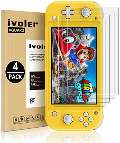 4-Pack-Screen-Protector-Tempered-Glass-for-Nintendo-Switch-Lite-iVoler-Transparent-HDHigh-DefinitionClear-Anti-Scratch-with-Anti-Fingerprint-Bubble-Free-Fit-Switch-Lite-2019