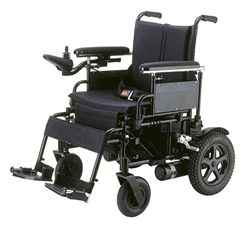 Drive Medical Cirrus Plus Folding Power Wheelchair with Footrest and Batteries, Black, 20'