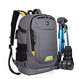 Abonnyc Dslr SLR Camera Backpack Rucksack Bag Case Shockproof Waterproof for Canon Nikon Sony Panasonic Olympus Pentax and Accessories,Grey