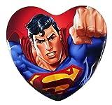 DC Comics Superman Valentine's Day Heart Tin with Chocolate Hearts, 3.38 oz
