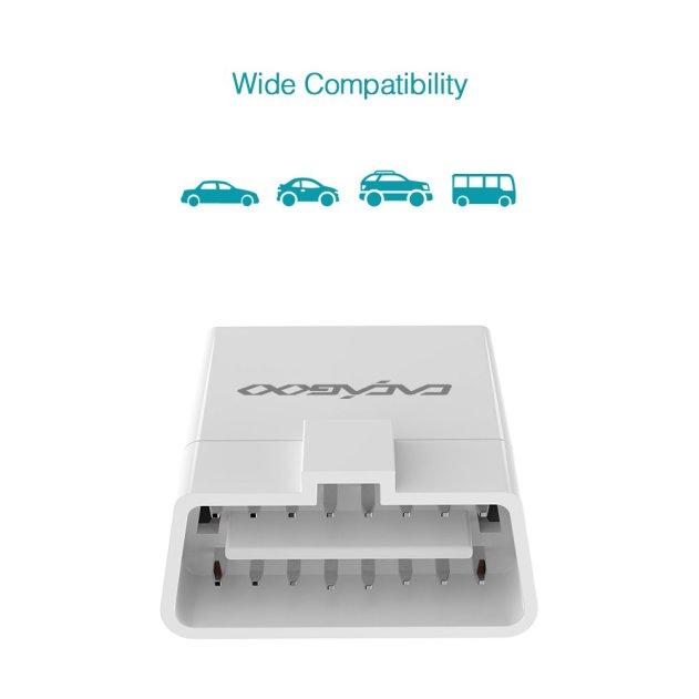 CACAGOO OBD2 ワイヤレス4.0 OBD-IIスキャナー 自動車診断スキャンツール 車専用診断機 HUDヘッドアップディスプレイ機能付き iOS/ Androidののデバイスに適用