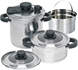 L'EQUIP B/R/K Germany 6-Piece Alpha Pressure Cooking Set, 7.9-Inch