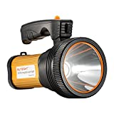 Bright Rechargeable Searchlight handheld LED Flashlight Tactical Flashlight with Handle CREE L2 Spotlight 6000 Lumens Ultra-long Standby Electric Torch with USB OUTPUT as a Power Bank (golden)