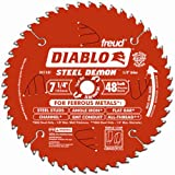 Freud Diablo DO748F Diablo Steel Demon 7 1/4 Inch 48-Tooth Titanium Carbide TCG Ferrous Metal Cutting Circular Saw Blade w/ Perma Shield Non-Stick Coating and Laser Cut Stabilizing Vents