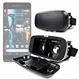 DURAGADGET Padded 3D Virtual Reality VR Headset Glasses - Suitable for Google Pixel 3a | 3a XL | 2 XL | XL | 2 | Pixel