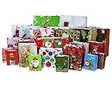 Iconikal Christmas Print Gift Bags 23-Count