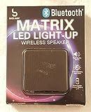 Bass Jaxx Bluetooth Matrix LED Light-Up Wireless Speaker BLACK