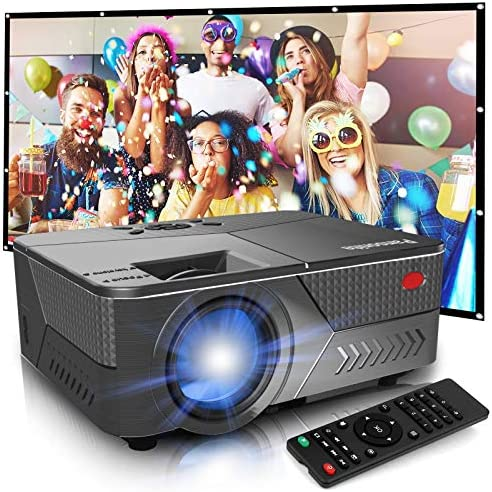 "Pansonite Mini Projector with High Brightness Support 1080P and 200"" Display,Portable Projector Compatible with TV Stick/iPhone/Android/HDMI/USB/PS5 (Latest Upgrade)"