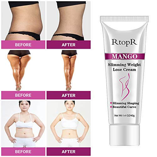 Slimming Cream for Tummy, Abdomen, Belly and Waist - Firming Cream - Hot Cream for Weight Loss - Anti Cellulite Cream And Stomach Fat Burner - Natural Ingredients (Mango) 7