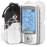 AUVON Rechargeable TENS Unit Muscle Stimulator, 3rd Gen 16 Modes TENS Machine with Upgraded Self-Adhesive Reusable TENS Electrodes Pad (2'x2') for Pain Relief