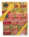 Sun Maid SOUR Raisins Variety Pack - 3 PACKS of 6 Boxes - Sour Lemon, Sour Strawberry and Sour Watermelon - 18 total 1.33oz Boxes