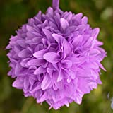 Efavormart 4 PCS Dahlia Silk Flower Balls for Wedding Party Home Decorations - s for Wedding Party Home Decorations - Lavender