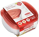 Rubbermaid TakeAlongs Sandwich Food Storage Containers, 2.9 Cup, Tint Chili, 4 Count 1779040