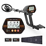 Metal Detector, 3 Modes Waterproof Metal Detectors with Larger Back-lit LCD Display and Distinctive Audio Prompt & DISC Mode - Carrying Bag & Batteries Included - Easy to Operate for Adult and Child