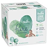 Diapers Size Size 1, 198 Count - Pampers Pure Disposable Baby Diapers, Hypoallergenic and Unscented Protection, ONE Month Supply