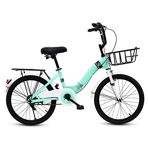 Kids Bicycles MEIDUO Kid's Bike, Folding Bike with Training Wheels Lightweight Durable Frame Adjustable Seat Stylish Looking Quickly Easily Foldable (Color : Blue, Size : 16 inch)
