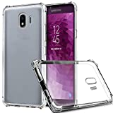 Galaxy J4 2018 Case, Zeking Slim Thin Anti-Scratch Clear Flexible TPU Silicone with Four Corner Bumper Protective Case Cover for Samsung Galaxy J4 (2018)(Transparent)