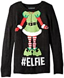 Blizzard Bay Little Girls' Elfie Christmas Sweater, Black/Green, 6