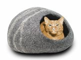 MEOWFIA-Premium-Felt-Cat-Cave-Bed-Large-Eco-Friendly-100-Merino-Wool-Cat-Bed-Handmade-Soft-and-Comfy-Beds-for-Large-Cats-and-KittensDark-Grey