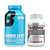 Beast Super Test and Testovox: Advanced Testosterone Booster Bundle | Powerful Test Booster and Muscle Growth Supplements | Natural Muscle Builder and Estrogen Blocker to Enhance Performance
