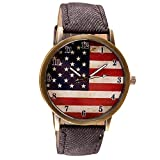 Product review for AmyDong American Flag pattern Leather Band Quartz Vogue Watch
