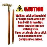 AnNafi Men Derby Cane Walnut Maple Folding Walking Stick 2 Two Piece | Decorative Defence Victorian Peweter Solid Brass Handle -Affordable Gift! Item #HAR-9112407 | Walking Sticks for Men & Women