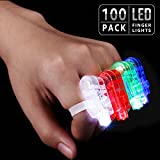 TORCHSTAR LED Finger Lights Party Favors, Bulk Toys for Easter, Halloween, Christmas, Carnival, Concert, Wedding, Labor Day, Veteran's Day, Pack of 100
