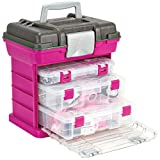 Creative Options 1363-85 Grab N' Go Rack System with Two No.2-3630 Deep Pro-Latch Organizers and One No.2-3650 Organizer, Magenta/Sparkle Gray