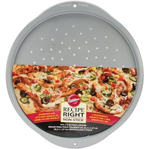 Wilton Recipe Right Pizza Pan-Round 14-inch, Other, Multicoloured, 4.54 x 40.1 x 43.91 cm 51UP7ul24CL