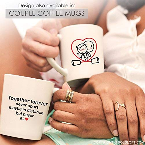 BOLDLOFT Together Forever Couple Pillowcases for Him and Her|Couples Gifts for Christmas|His and Hers Gifts for Couples,Christmas,Home|Long Distance Relationships Gifts|Romantic Gifts for Husband Wife