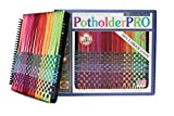 Harrisville Designs 10' Potholder Loom (PRO Size) Kit, Sturdy Metal Loom with Loops to Make 2 Potholders (Packaging May Vary), Black - Made in The USA