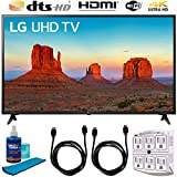 LG 60UK6090 60' 4K HDR Smart LED UHD TV w HDR (2018) (LG60UK6090PUA 60UK6090PUA 60UK6090P) + Accessories: 2X 6 High Speed HDMI Cable, 6-Outlet Surge Adapter, Night Light & Screen Cleaner Solution