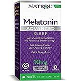Natrol Advanced Sleep Melatonin Tablets, Maximum Strength 10 mg 60 ea (Pack of 3)