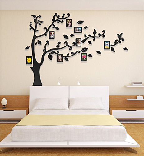 3d Picture Frames Tree Wall Murals for Living Room Bedroom Sofa ...