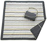 JJ Cole Outdoor Blanket,Gray/Green, 5' x 5'