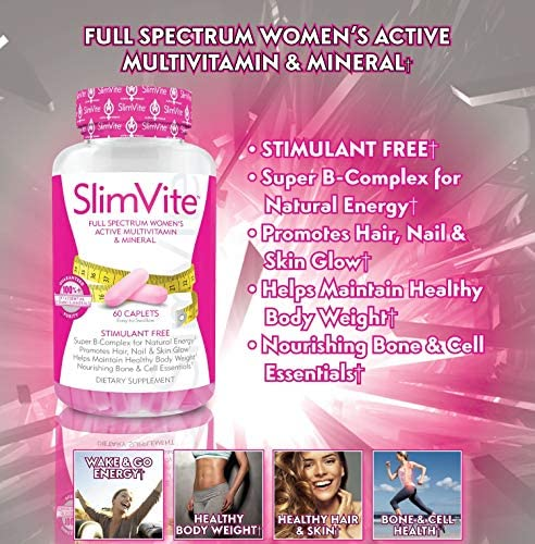 SLIMVITE – Women's Multivitamin for Weight Loss & Beauty, Multi Vitamin Metabolism Booster with Resveratrol & Green Coffee Bean Extract for Hair Skin & Nails and Appetite Suppressant, 30 Day Supply 7
