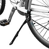 "BV Bike Kickstand - Alloy Adjustable Height Rear Side Bicycle Kick Stand, for 24"" - 28"" Mountain Bike/Road Bike/BMX/MTB (Black)"