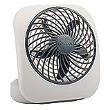 O2COOL Treva 5-Inch Portable Desktop Air Circulation Battery Fan   2 Cooling Speeds, Compact Folding & Tilt Design, Grey
