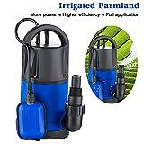 1 HP Sump Pumps Submersible Transfer Water Pump Electric Pool Pump Flood Drain Garden Pond Water Pressure Pump(US STOCK)