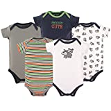 Luvable Friends Cotton Bodysuit, 5 Pack, Dog, 9-12 Months