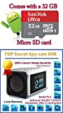 Online-Enterprises MVS01 Top Secret Spy Camera Mini Clock Radio w/32Gb Class 10 Micro Sd Card Included. Hidden DVR- Continuous Power or Battery Power.