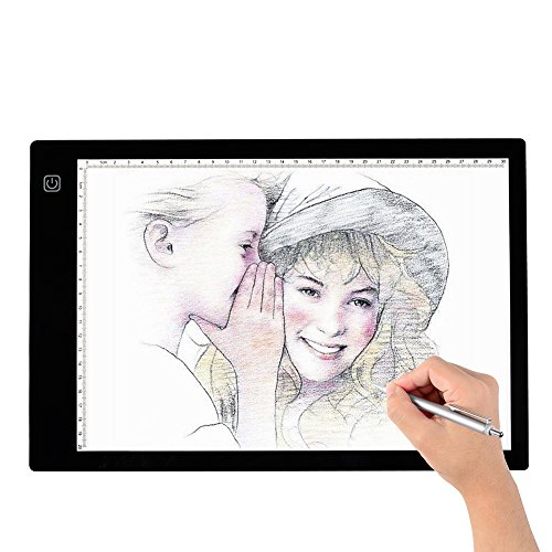Tracing Light Box, A4 LED Artcraft Tracing Light Pad Light Box For Artists,Drawing, Sketching, Animation, 9.4×14 Inch Light Pad