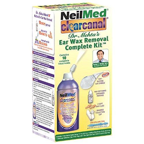 NeilMed Clearcanal Ear Wax Removal Complete Kit 6 Ounce