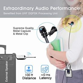 Wireless-Headset-Lavalier-Microphone-System-Alvoxcon-Wireless-Lapel-Mic-Best-for-IPhone-DSLR-Camera-PA-Speaker-Youtube-Podcast-Video-Recording-Conference-Vlogging-Church-Interview-Teaching
