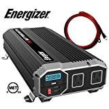 Energizer 1100 Watt 12V Power Inverter, Dual 110V AC Outlets, Automotive Back Up Power Supply Car Inverter, Converts 120 Volt AC with 2 USB Ports 2.4A Each